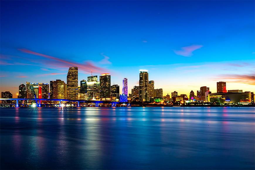 Vlies foto-behang Miami Blue