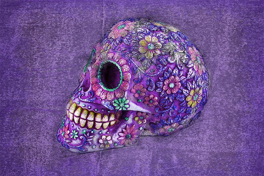 Vlies foto-behang Purple Death