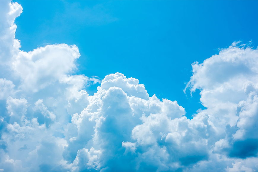 Vlies foto-behang Verdroomde Wolken in 6 Größen