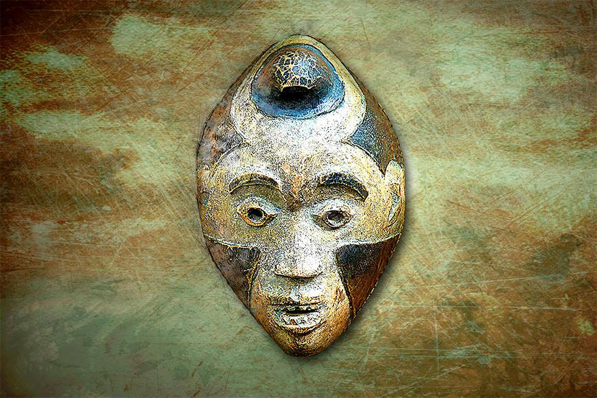 Vlies fotobehang Afro Head
