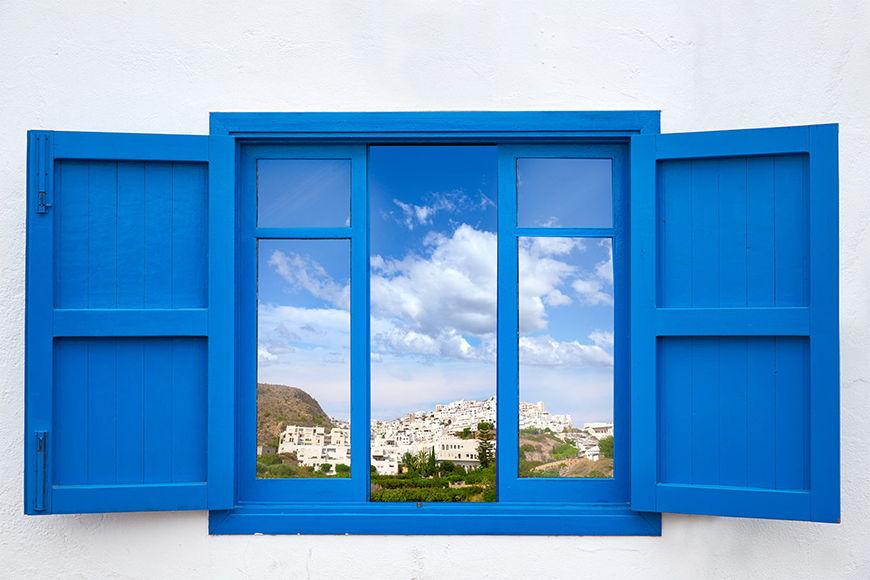 Vlies fotobehang Almeria View vanaf 120x80cm
