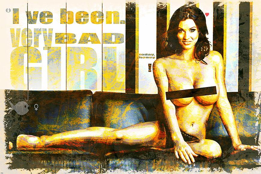 Vlies fotobehang Bad Girl vanaf 120x80cm