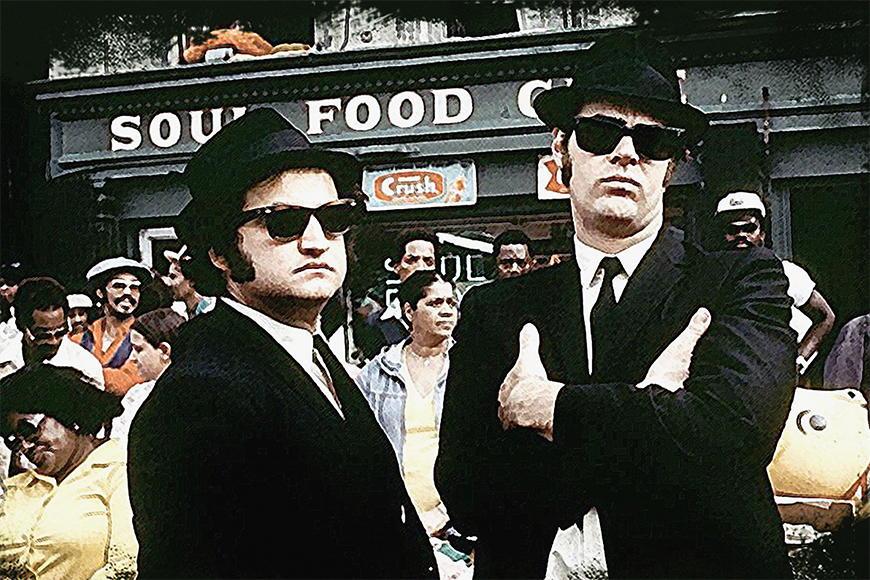 Vlies fotobehang Blues Brothers vanaf 120x80cm