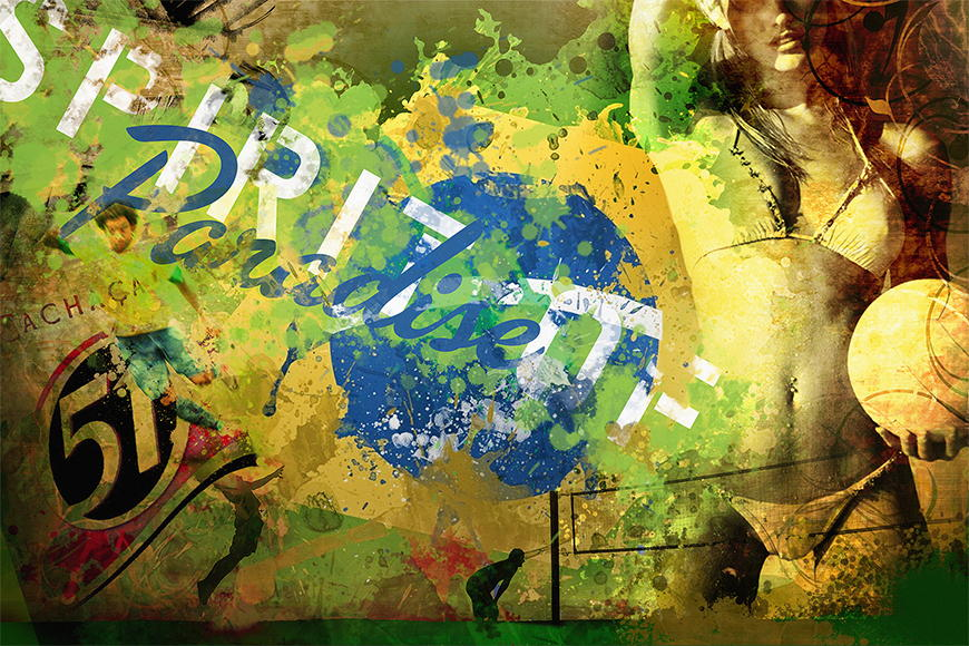 Vlies fotobehang Brazil vanaf 120x80cm