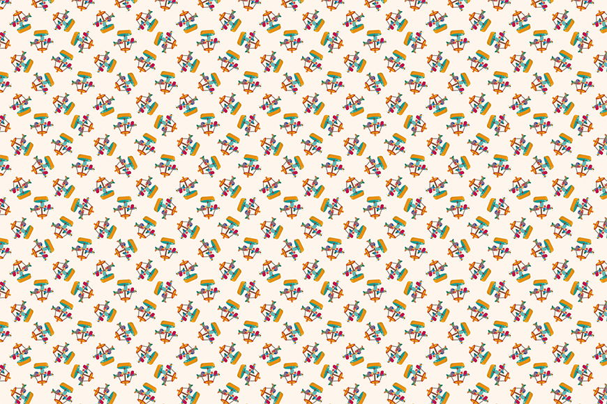 Vlies fotobehang Carrousel vanaf 120x80cm