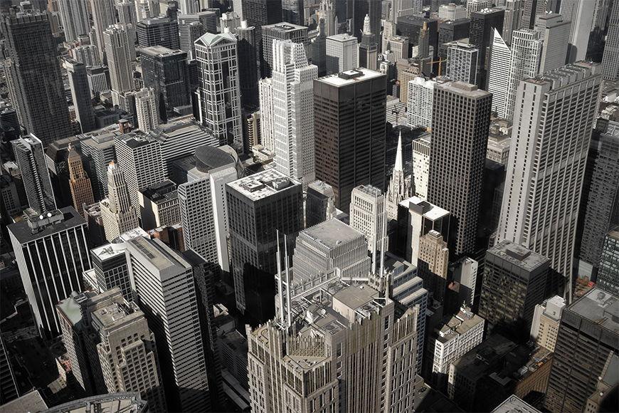 Vlies fotobehang Chicago City vanaf 120x80cm