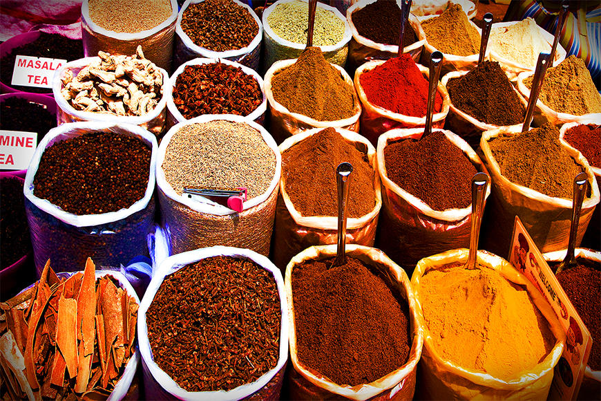 Vlies fotobehang Colorful Spices