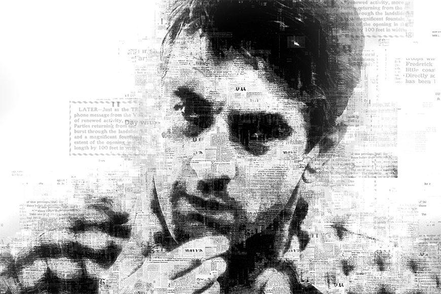 Vlies fotobehang De Niro vanaf 120x80cm