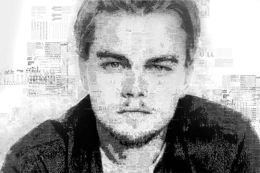 Vlies fotobehang DiCaprio vanaf 120x80cm
