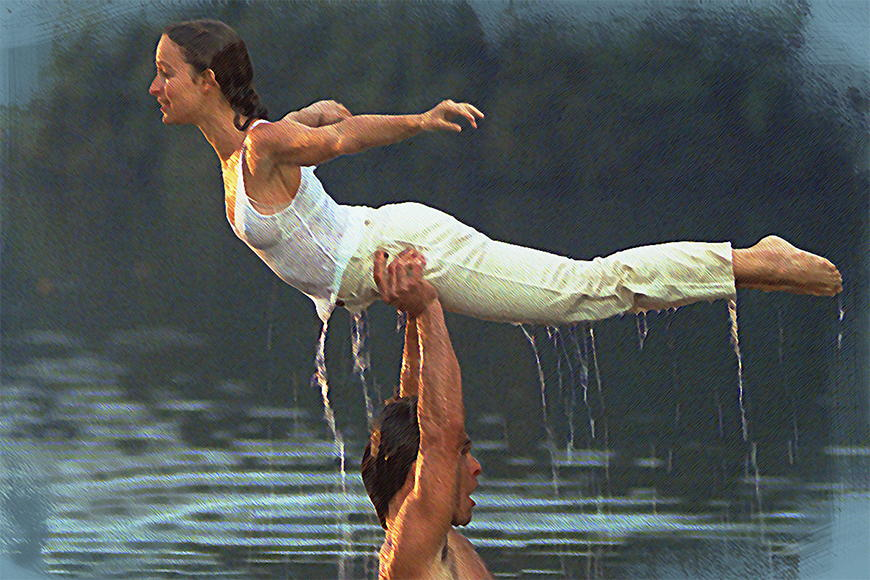 Vlies fotobehang Dirty Dancing vanaf 120x80cm