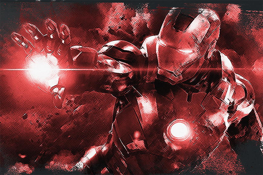 Vlies fotobehang Iron Man vanaf 120x80cm