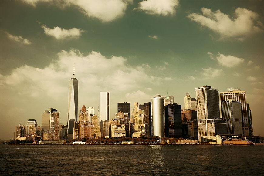 Vlies fotobehang Manhattan Skyline vanaf 120x80cm
