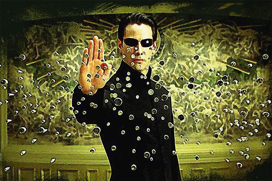 Vlies fotobehang Matrix vanaf 120x80cm