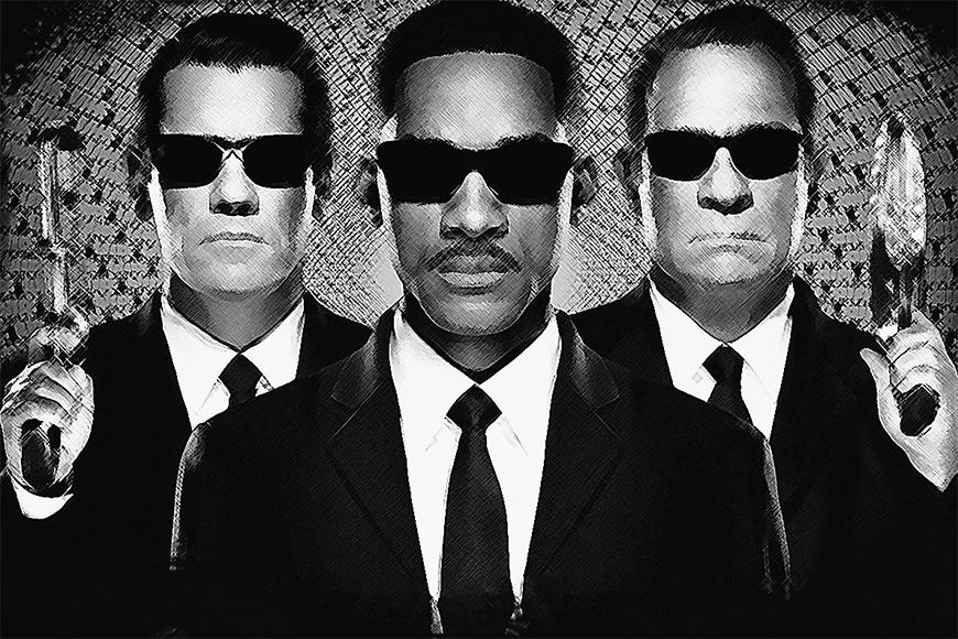 Vlies fotobehang Men in Black vanaf 120x80cm
