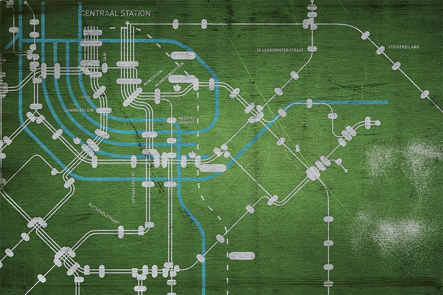 Vlies fotobehang Metro Amsterdam vanaf 120x80cm