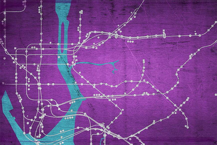 Vlies fotobehang Metro New York vanaf 120x80cm