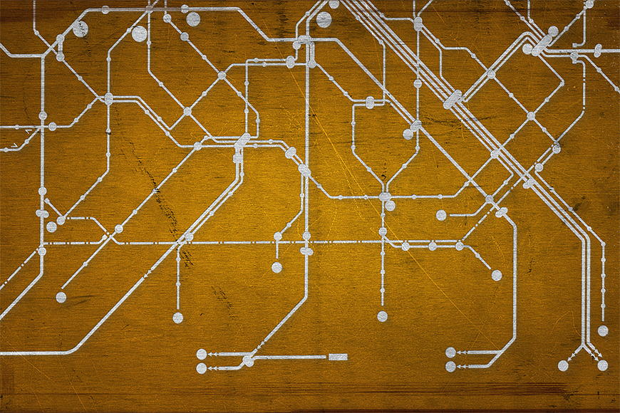 Vlies fotobehang Metro Paris vanaf 120x80cm