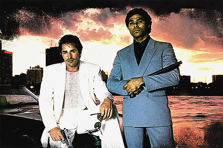 Vlies fotobehang Miami Vice vanaf 120x80cm