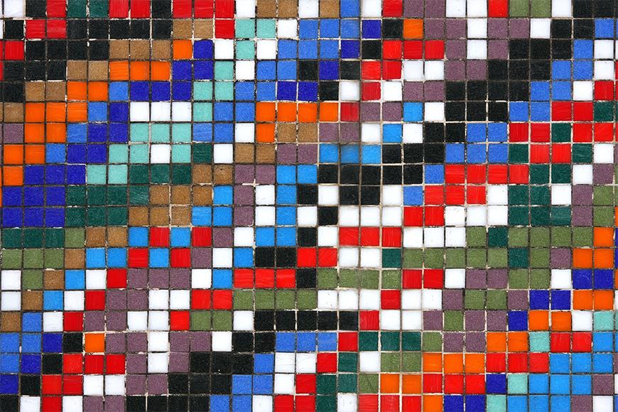 Vlies fotobehang Mosaikmuur vanaf 120x80cm