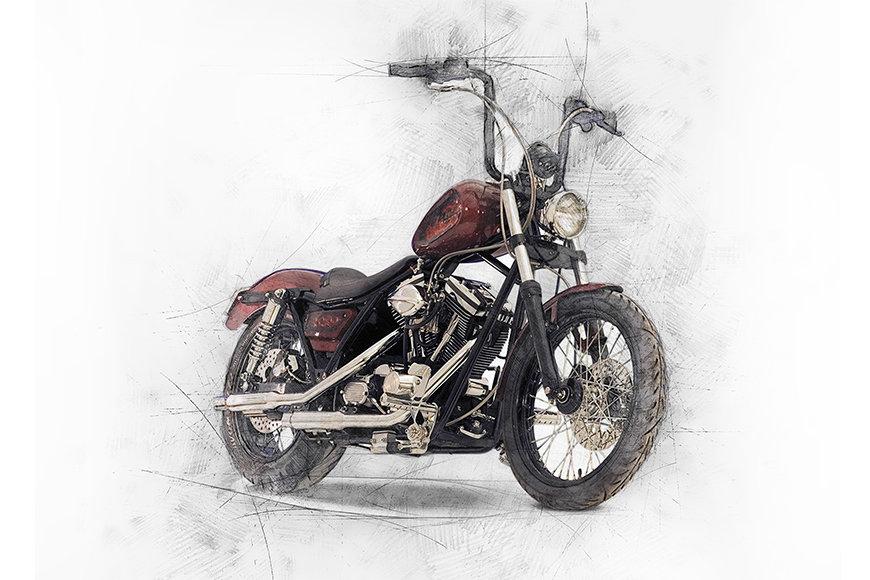 Vlies fotobehang Motorbike
