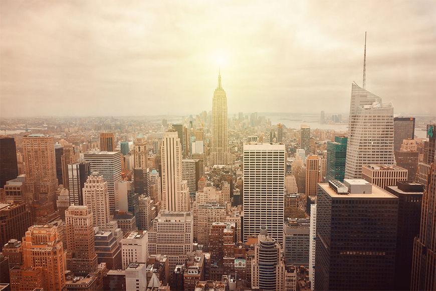 Vlies fotobehang New York Retro vanaf 120x80cm