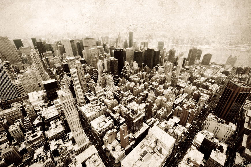 Vlies fotobehang Old New York vanaf 120x80cm