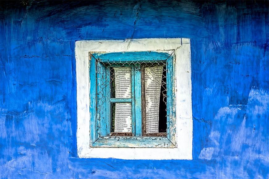 Vlies fotobehang Oude Raam vanaf 120x80cm