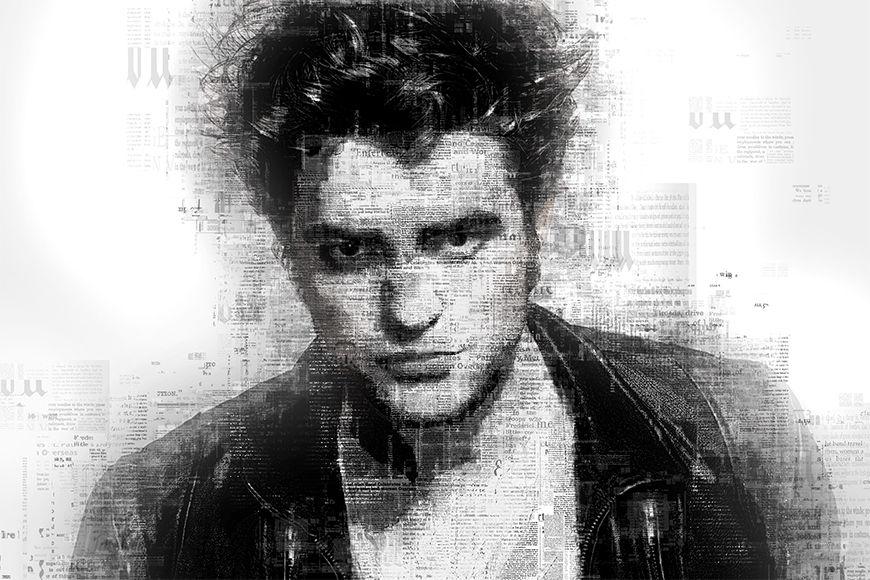 Vlies fotobehang Pattinson vanaf 120x80cm