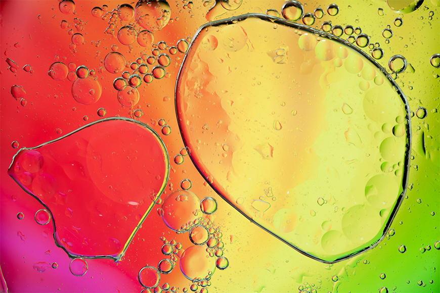 Vlies fotobehang Rainbowdrops vanaf 120x80cm