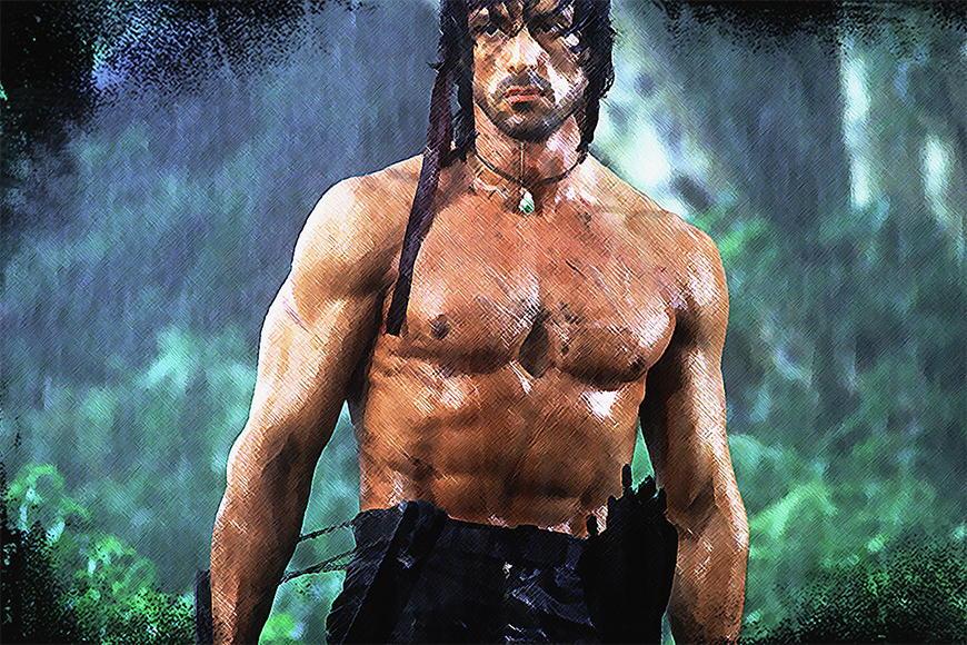 Vlies fotobehang Rambo vanaf 120x80cm