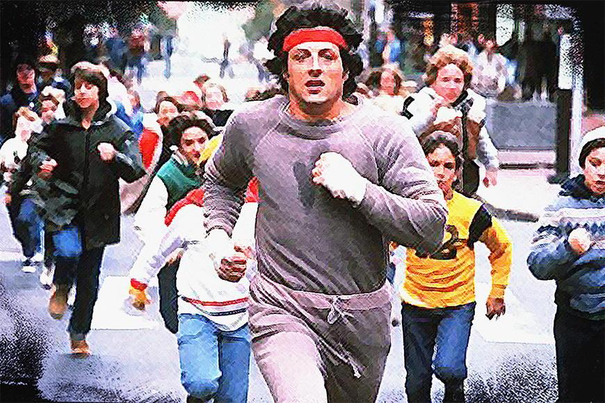 Vlies fotobehang Run Rocky Run vanaf 120x80cm
