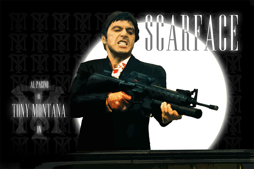 Vlies fotobehang Scarface