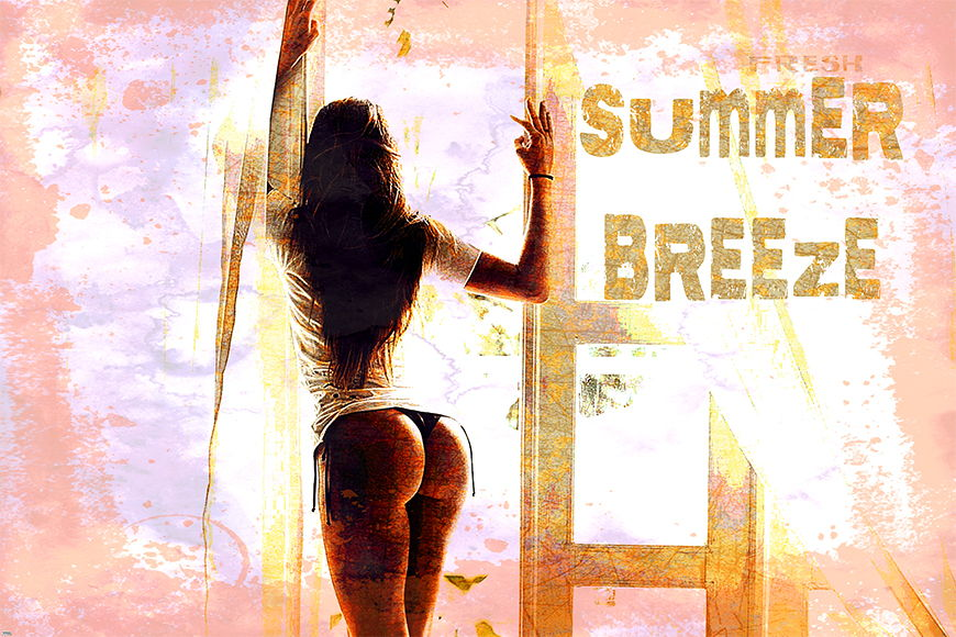 Vlies fotobehang Summer Breeze vanaf 120x80cm
