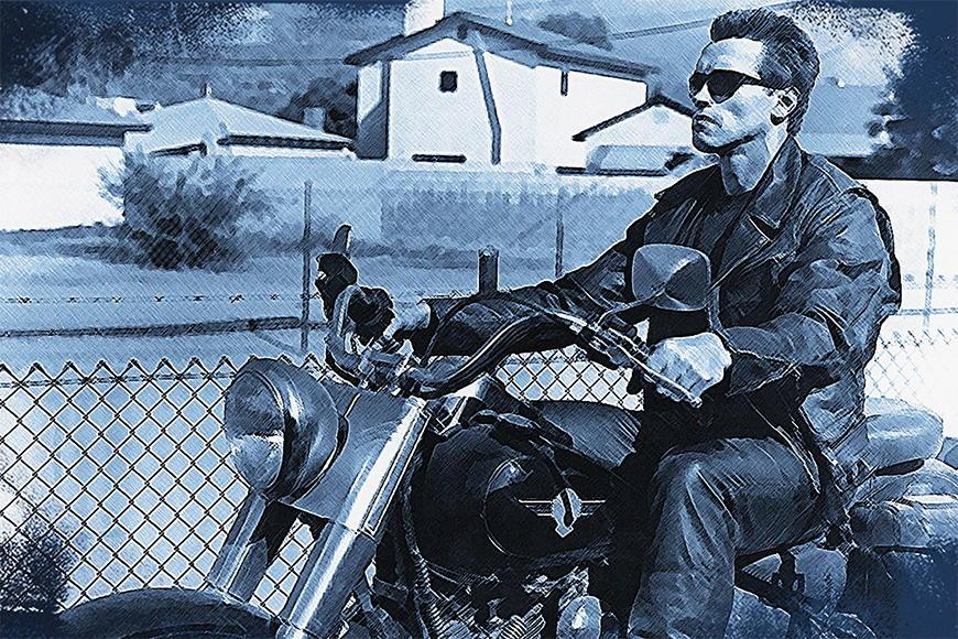 Vlies fotobehang Terminator vanaf 120x80cm