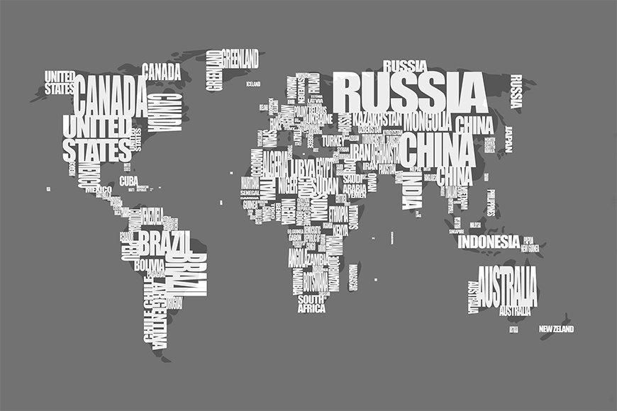 Vlies fotobehang Wereldkaart 11 vanaf 120x80cm