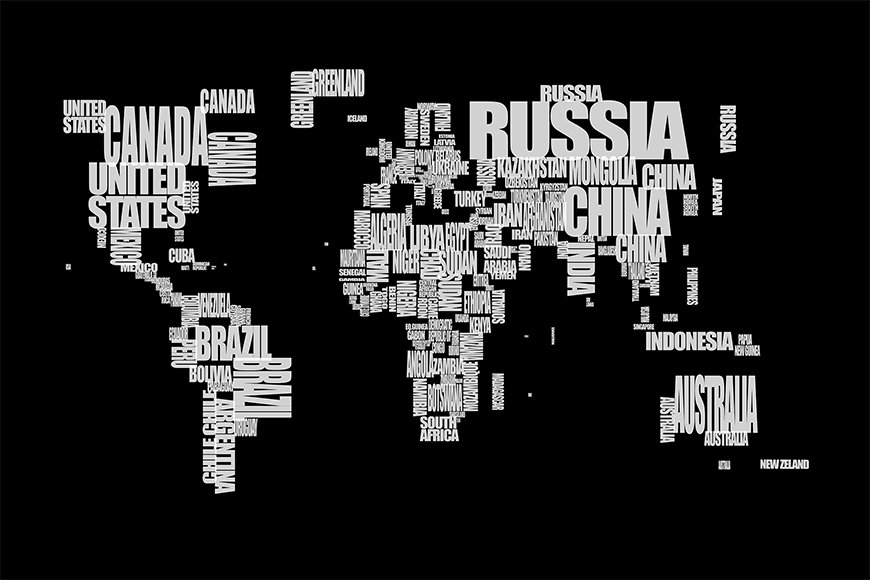 Vlies fotobehang Wereldkaart 14 vanaf 120x80cm