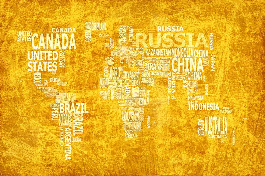Vlies fotobehang Wereldkaart 15 vanaf 120x80cm