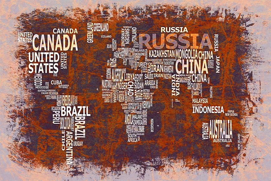 Vlies fotobehang Wereldkaart 19 vanaf 120x80cm