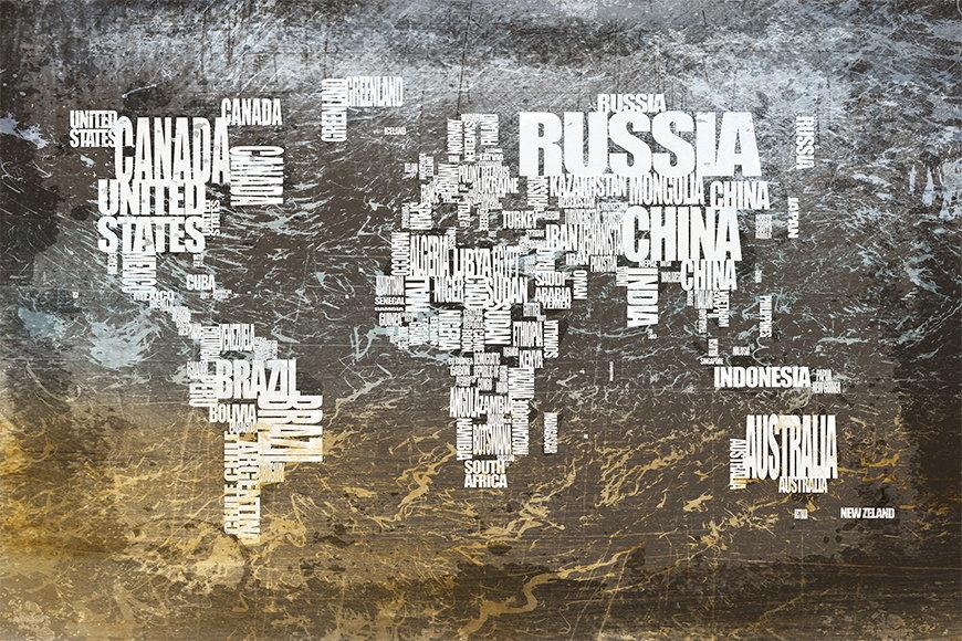 Vlies fotobehang Wereldkaart 20 vanaf 120x80cm