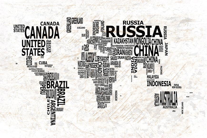 Vlies fotobehang Wereldkaart 21 vanaf 120x80cm