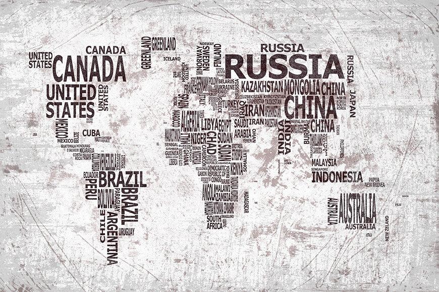 Vlies fotobehang Wereldkaart 22 vanaf 120x80cm