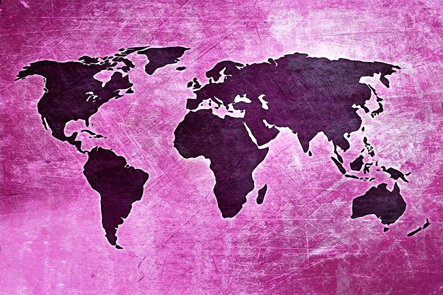 Vlies fotobehang Wereldkaart 4 vanaf 120x80cm