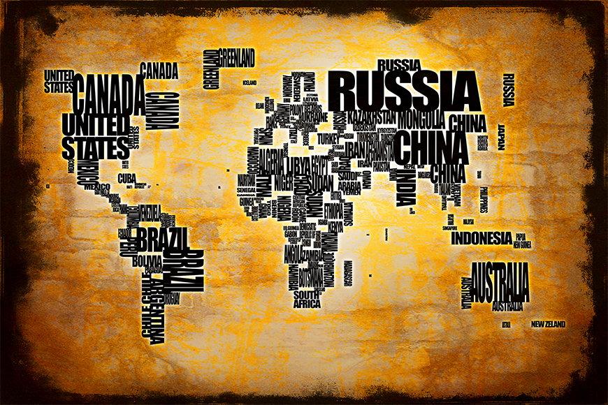 Vlies fotobehang Wereldkaart 5 vanaf 120x80cm