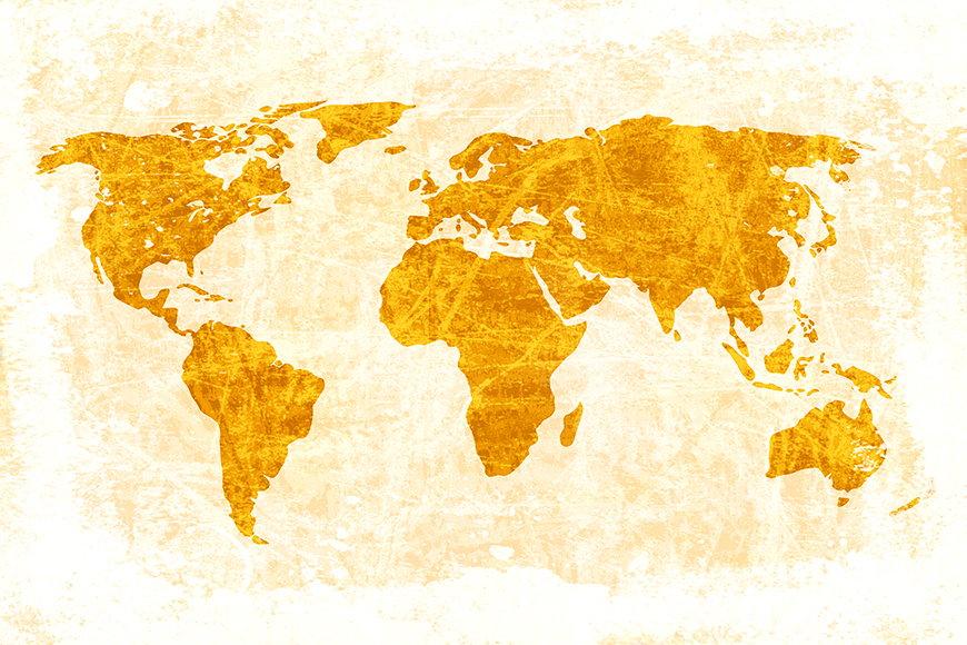 Vlies fotobehang Wereldkaart 7 vanaf 120x80cm