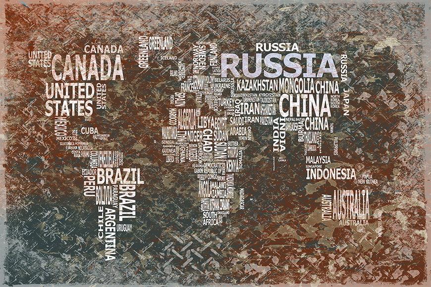 Vlies fotobehang Wereldkaart 8 vanaf 120x80cm