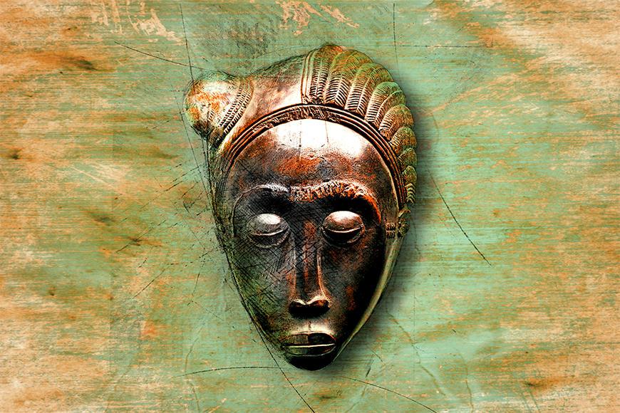 Vliesbehang African Mujer