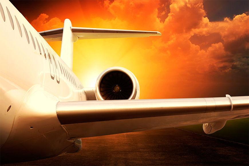 Vliesbehang Airplane vanaf 120x80cm