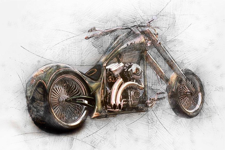 Vliesbehang Bad Bike