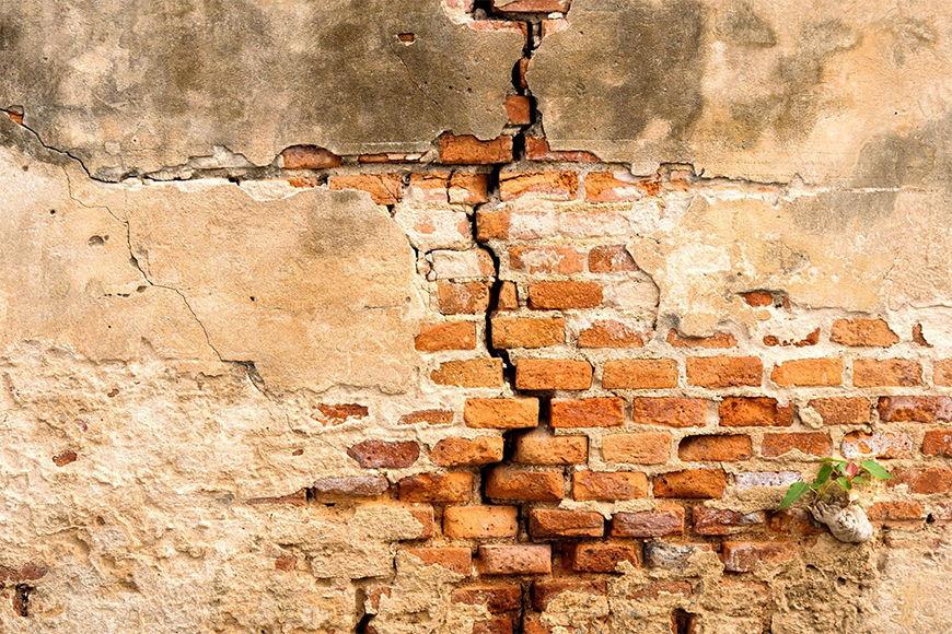 Vliesbehang Baksteenmuur vanaf 120x80cm