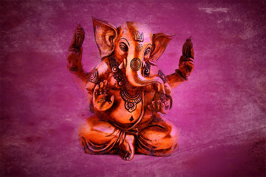 Vliesbehang God Ganesha